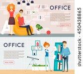 business cartoon characters.... | Shutterstock .eps vector #450438865