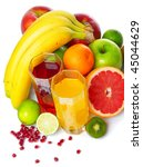 tropical wet fruits with...   Shutterstock . vector #45044629
