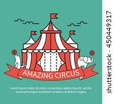 amazing circus sign or symbol... | Shutterstock .eps vector #450449317