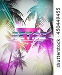 retro futurism neon poster with ...   Shutterstock .eps vector #450449455