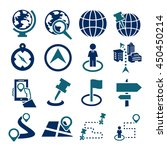 location  place icon set | Shutterstock .eps vector #450450214