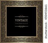 vintage gold background  vector ... | Shutterstock .eps vector #450453661