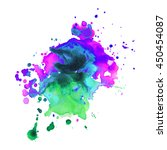 abstract watercolor smear with... | Shutterstock .eps vector #450454087