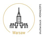 Warsaw  Poland  Outline Icon...