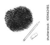 crayon scribble texture. wax... | Shutterstock .eps vector #450462481