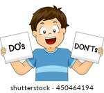 illustration of a boy showing... | Shutterstock .eps vector #450464194