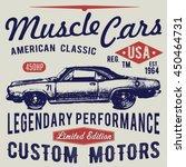 t shirt typography design ... | Shutterstock . vector #450464731