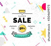 sale poster with geometric... | Shutterstock .eps vector #450469975
