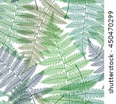 Seamless Pattern With Fern...