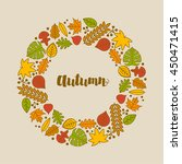 vector autumn frame with... | Shutterstock .eps vector #450471415