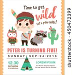 kids birthday invitation card... | Shutterstock .eps vector #450472399