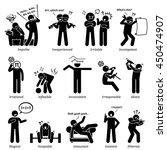 negative personalities... | Shutterstock . vector #450474907