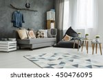 new apartment interior in grey... | Shutterstock . vector #450476095