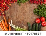 healthy fresh vegetable on flat ... | Shutterstock . vector #450478597