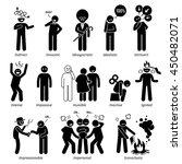 neutral personalities character ...   Shutterstock . vector #450482071