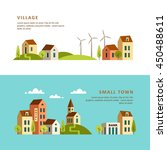village. small town. rural and... | Shutterstock .eps vector #450488611