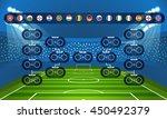 football tournament scheme.... | Shutterstock .eps vector #450492379