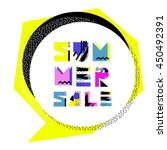 summer sale  banner. special... | Shutterstock .eps vector #450492391