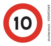 speed limit road sign. speed... | Shutterstock .eps vector #450492469