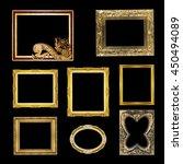 set antique gold  frame... | Shutterstock . vector #450494089