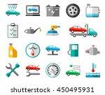 repair and maintenance of... | Shutterstock .eps vector #450495931