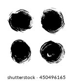 set of black abstract round... | Shutterstock .eps vector #450496165