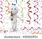 3d rendering character happy... | Shutterstock . vector #450502951