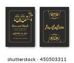 template wedding invitation...   Shutterstock .eps vector #450503311