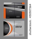 bi fold brochure design.... | Shutterstock .eps vector #450507364