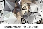randomly scattered triangles of ... | Shutterstock .eps vector #450510481