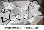 randomly scattered triangles of ... | Shutterstock .eps vector #450510484