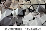 randomly scattered triangles of ... | Shutterstock .eps vector #450510604
