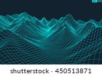 abstract vector wireframe... | Shutterstock .eps vector #450513871