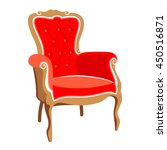barocco red armchair vector | Shutterstock .eps vector #450516871