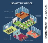 isometric business organization ... | Shutterstock .eps vector #450520921