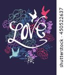abstract drawing for t shirts.... | Shutterstock .eps vector #450522637