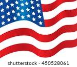 american flag waving | Shutterstock .eps vector #450528061