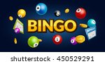 bingo lottery poster. balls... | Shutterstock .eps vector #450529291