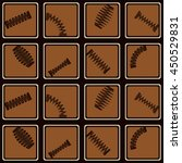 seamless pattern with springs... | Shutterstock .eps vector #450529831