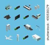 international airport terminals ... | Shutterstock .eps vector #450530179