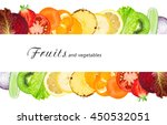 fruits and vegetables. fresh...   Shutterstock . vector #450532051