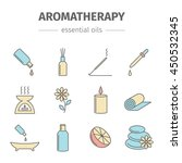 aromatherapy oils colored set.... | Shutterstock .eps vector #450532345