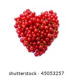 red currant  isolated on a... | Shutterstock . vector #45053257