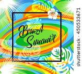 brazil summer travel background.... | Shutterstock .eps vector #450533671