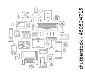 household appliances line icons.... | Shutterstock .eps vector #450534715