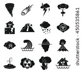 natural disaster icons set in... | Shutterstock .eps vector #450535861