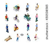 isometric people icons set...