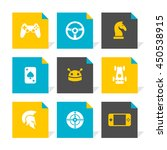 vector flat icons set   game   Shutterstock .eps vector #450538915
