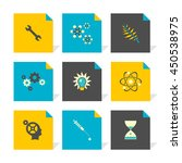 vector flat icons set   science