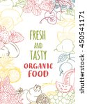 illustration fresh organic... | Shutterstock . vector #450541171